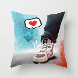 sneaker Love Throw Pillow