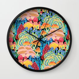 Fungi World (Mushroom world) - BKBG Wall Clock