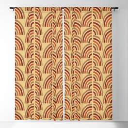 Rusty and sand. Abstract pattern Blackout Curtain