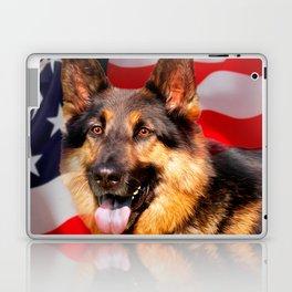 German shepherd Dog Patriot Red Blue White Laptop & iPad Skin