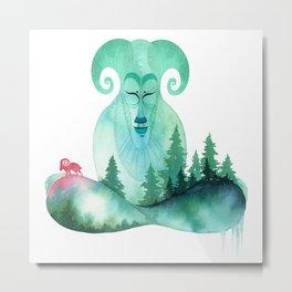 Mountain Zen Metal Print