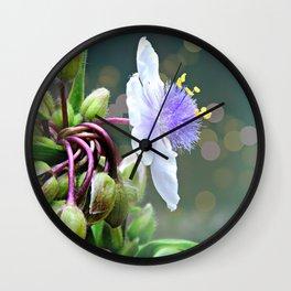 Tradescantia (Spiderwort) Wall Clock