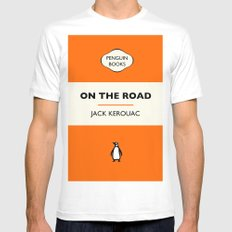 Penguin Book / On The Road - Jack Kerouac  White MEDIUM Mens Fitted Tee