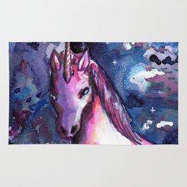 super unicorn galaxy Rug