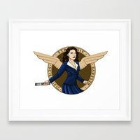 agent carter Framed Art Prints featuring Agent Carter by Arania