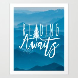 Reading Awaits - Blue Mountains Art Print