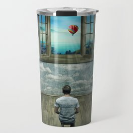 abstract window Travel Mug