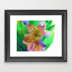 Purple Flowers - Watercolour Painting Framed Art Print