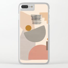 Modern Art Clear iPhone Case
