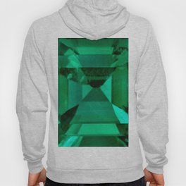 FACETED EMERALD GREEN MAY GEMSTONE Hoody