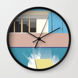 Swimming Pool, Wall Clock