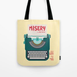 Misery, Horror, Movie Illustration, Stephen King, Kathy Bates, Rob Reiner, Classic book, cover Tote Bag