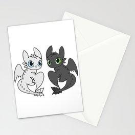 Night Fury & Light Fury Stationery Cards