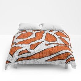 Collage orange white Comforters