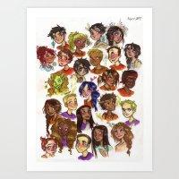 heroes of olympus Art Prints featuring Heroes of Olympus  by DellBelle