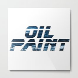 Oil Paint Metal Print