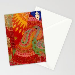 Salome (Floral Garden Landscape) by Vittorio Zecchin Stationery Cards
