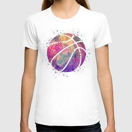 Purple Basketball Watercolor Art Print Sports Poster Nursery Home Decor Kids Room Sports Painting T-shirt