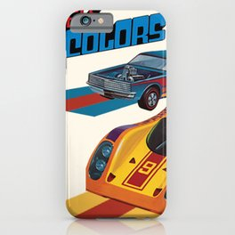 Vintage 1974 Hot Wheels Flying Colors Redline Vintage Poster iPhone Case