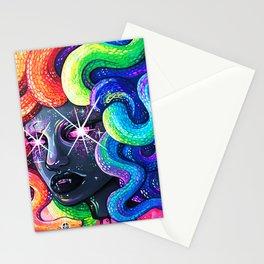 Rainbow Medusa Stationery Cards
