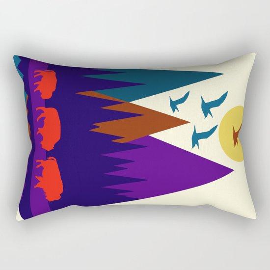 Three Bison Rectangular Pillow