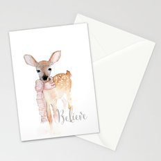 Believe- Christmas fawn Stationery Cards