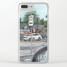 The Scotty Dog Beverly Massachusetts One Way Street Scene Clear iPhone Case