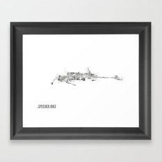 Star Wars Vehicle Speeder Bike Framed Art Print