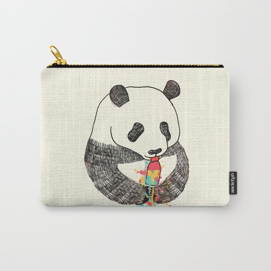 Panda Loves Ice Cream Carry-All Pouch