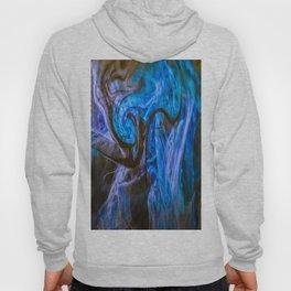 fluid blue and black Hoody
