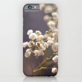Pretty White Flowers iPhone Case