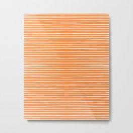 Orange Stripes Creamsicle Summer Metal Print