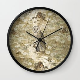 On the speculation of Keats , and the gaze of the owl. We are all in camouflage. Wall Clock