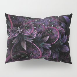 Foliage - Raw Fractal - Purple - Manafold Art Pillow Sham