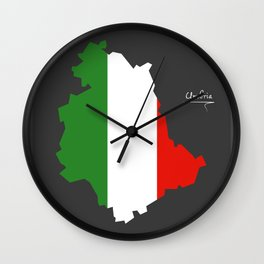 Umbria map with Italian national flag illustration Wall Clock