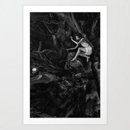 Redwood Roots - Self Portrait Art Print