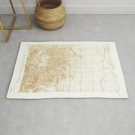 Manzana, CA from 1933 Vintage Map - High Quality Rug