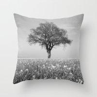 alone Throw Pillows featuring Alone by Chantal Seigneurgens