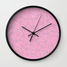 Ab Out Double Pink and Grey Wall Clock