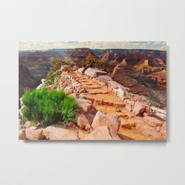 The Steps to Cedar Ridge Grand Canyon South Rim Metal Print