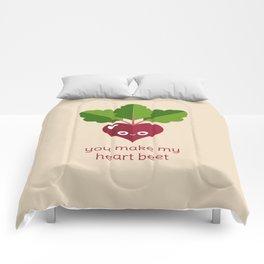 You Make My Heart Beet Comforters