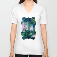 insect V-neck T-shirts featuring Little Insect by Elizabeth Padilla