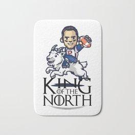 Tom Brady - king of the north Bath Mat