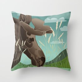 Shiras Moose Throw Pillow