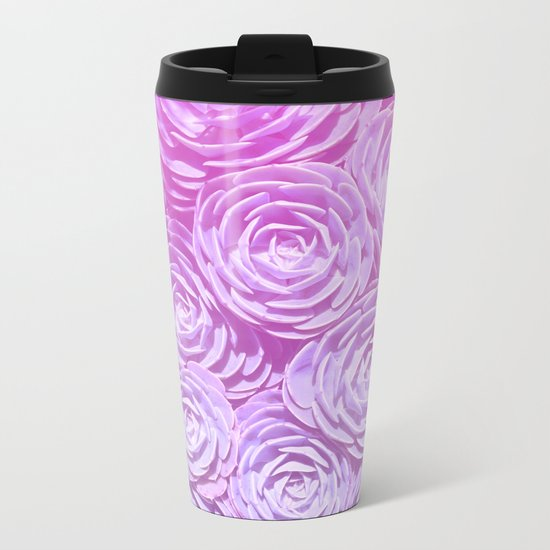 Succulent Love Metal Travel Mug