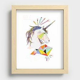 Unicorn Recessed Framed Print