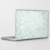 shabby chic Laptop & iPad Skins featuring Shabby Chic Damask by Miriam Hahn