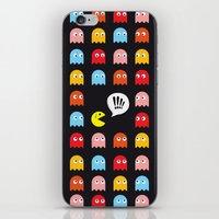 pac man iPhone & iPod Skins featuring Pac-Man Trapped by Psocy Shop