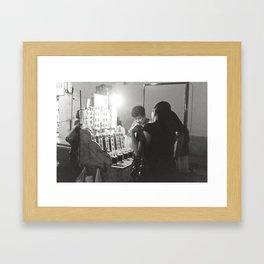 Late night tea Framed Art Print