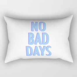 No Bad Days Pastel Blue Rectangular Pillow